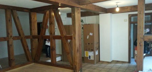 Der Laden wird umgebaut und eingerichtet